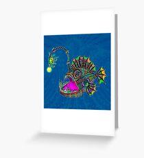 Electric Angler Fish Greeting Card