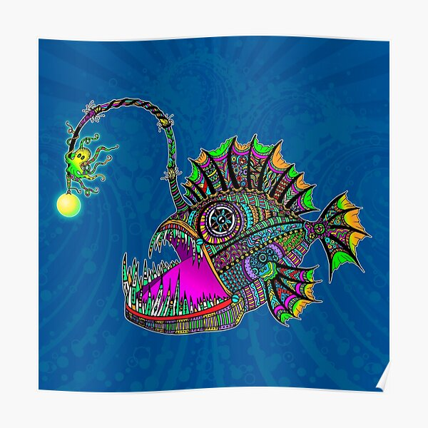 Electric Angler Fish Poster