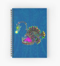 Electric Angler Fish Spiral Notebook