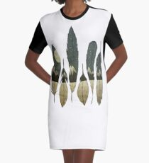 The Birds of Winter Graphic T-Shirt Dress