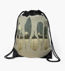 The Birds of Winter Drawstring Bag