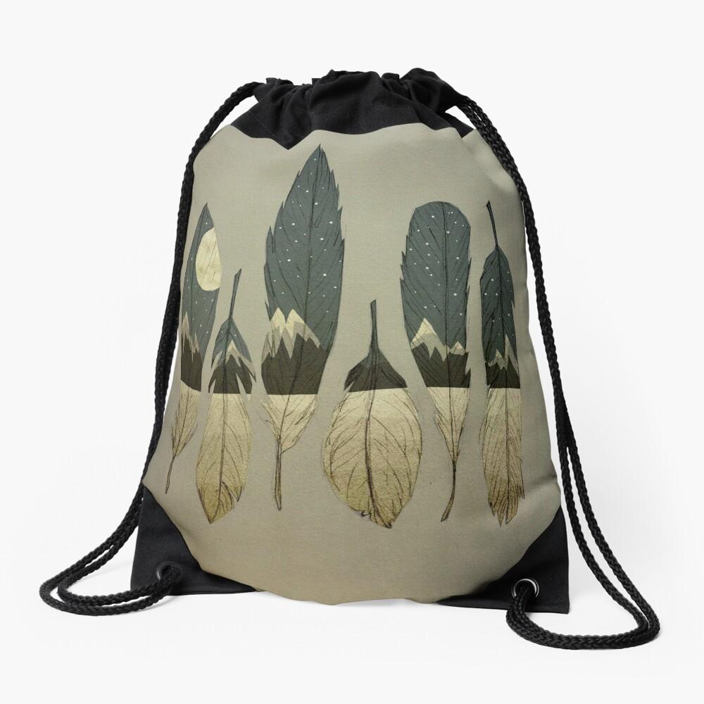 The Birds of Winter Drawstring Bag