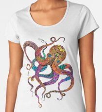 Electric Octopus Women's Premium T-Shirt
