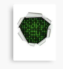 Binary Code Inside Canvas Print