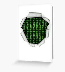 Binary Code Inside Greeting Card