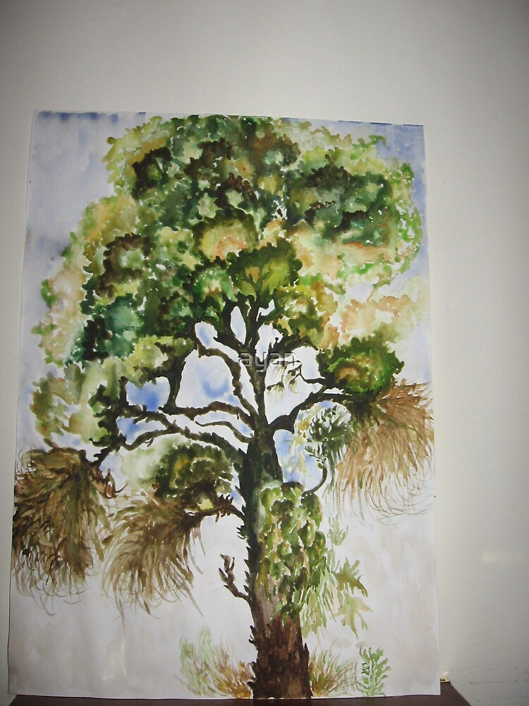 summer tree Size 29x42 cm by ayan