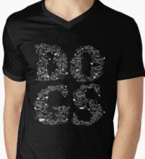 Dogs Black 2 Men's V-Neck T-Shirt
