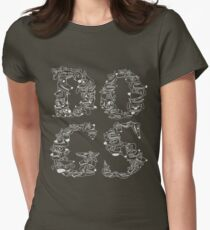 Dogs Black 2 Womens Fitted T-Shirt
