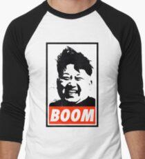 Kim Jong Un BOOM Men's Baseball ¾ T-Shirt