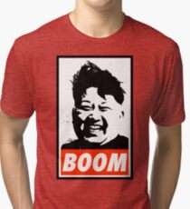 Kim Jong Un BOOM Tri-blend T-Shirt