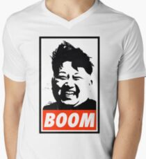 Kim Jong Un BOOM Men's V-Neck T-Shirt