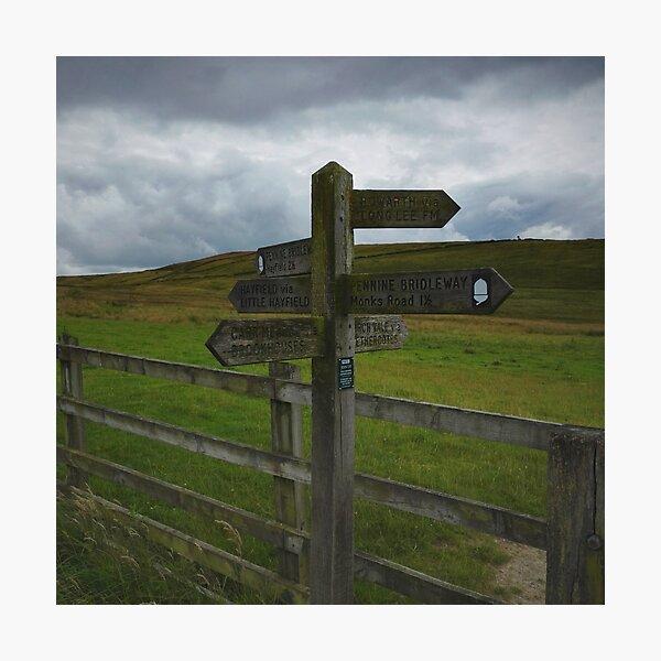 Peak District post sign Photographic Print