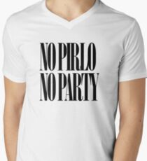No Pirlo No Party Men's V-Neck T-Shirt