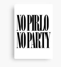 No Pirlo No Party Canvas Print