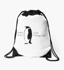 Do you know this penguin? Drawstring Bag