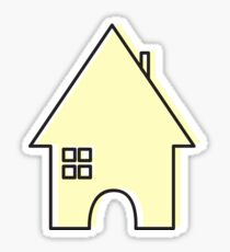Yellow House Sticker