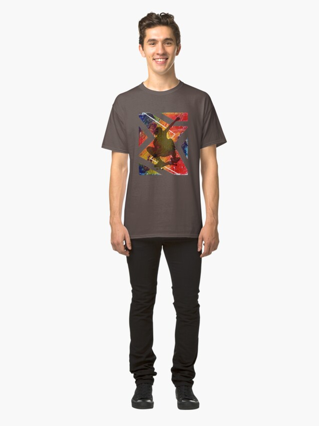 Alternate view of BORN TO SKATE SKATEBOARDER Classic T-Shirt