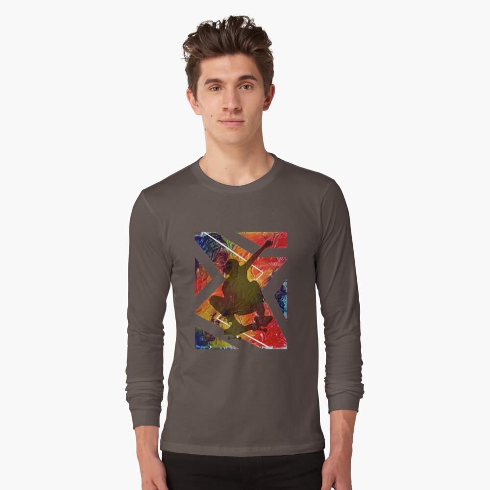 BORN TO SKATE SKATEBOARDER Long Sleeve T-Shirt