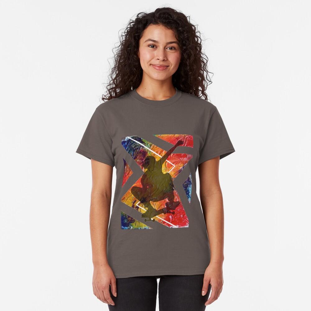 BORN TO SKATE SKATEBOARDER Classic T-Shirt