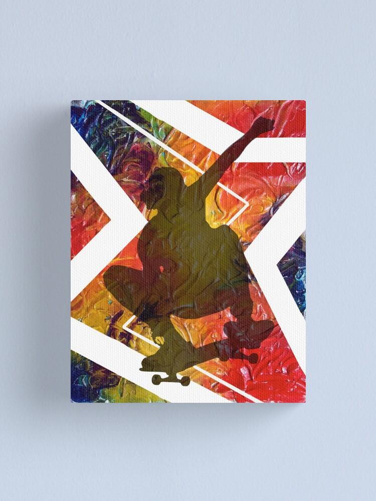 Alternate view of BORN TO SKATE SKATEBOARDER Canvas Print