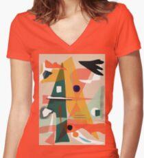 Modern Dance Women's Fitted V-Neck T-Shirt