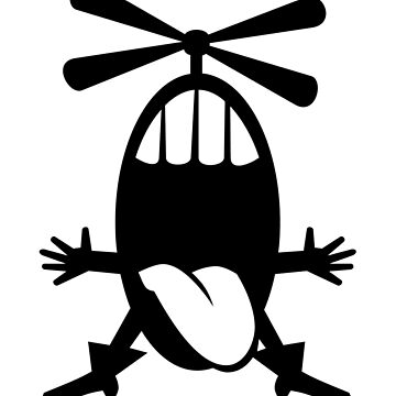 Helicopter Head Cartoon Creature Character by Zehda