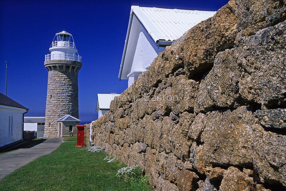 Drystone wall and Lighthouse by Travis Easton