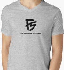 Featherscale FS Logo black Mens V-Neck T-Shirt