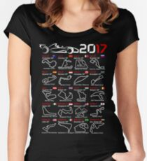 Calendar F1 2017 named circuits Women's Fitted Scoop T-Shirt