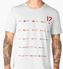 Calendar F1 2017 named circuits Men's Premium T-Shirt