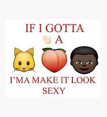 ELEMENT. Emoji Photographic Print