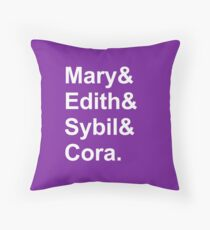 The Girls Are Back in Down(ton) Shirt Throw Pillow