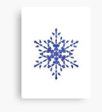 Frozen Snowflake Canvas Print