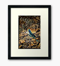 Ying Bird - Woodcut Framed Print