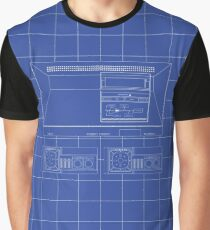 Master System outlines single (blue) Graphic T-Shirt