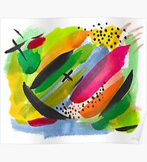 Colorful Watercolor Abstract Painting Poster