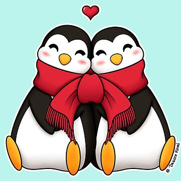 Penguins in love by SilveryDreams