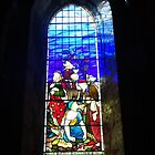 Coloured Reflection of Stained Glass Window by trish725