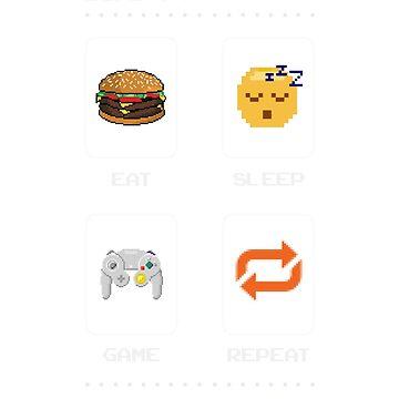 Eat Sleep Game Repeat by 50Pxels