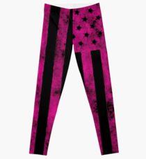 US Flag Grunge Style Leggings