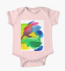 Colorful Watercolor Abstract Painting Kids Clothes