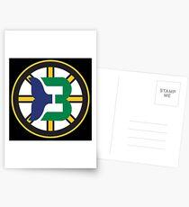 Boston Whalers - Hartford Bruins Postcards