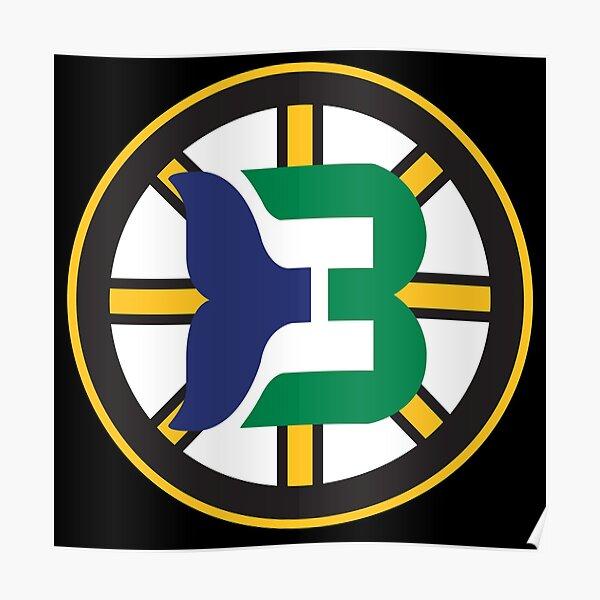 Boston Whalers Logo Mashup Poster