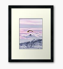 Parasailing over the Hoodoo Mountains in Alaska in the USA Framed Print