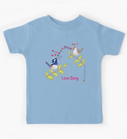 Adorable Blue Wren Birds Love Song Kids Clothes