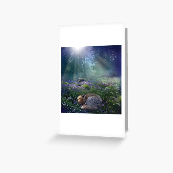 Bluebell Dawn Greeting Card
