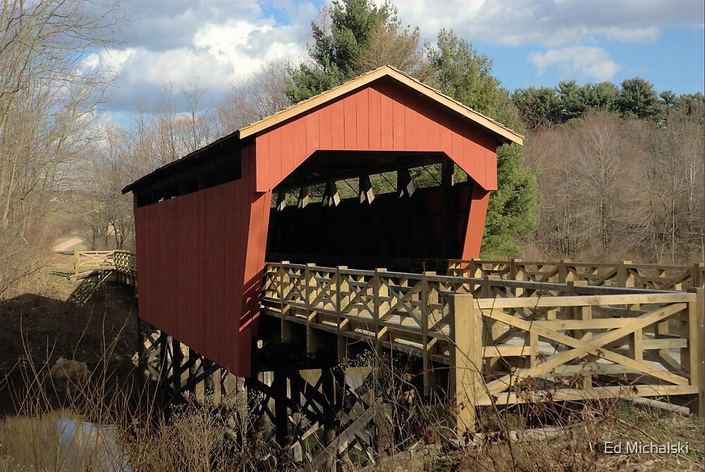 A historic covered bridge by Ed Michalski