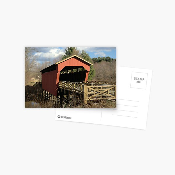 A historic covered bridge Postcard