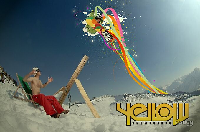yellow snowboards by smugg