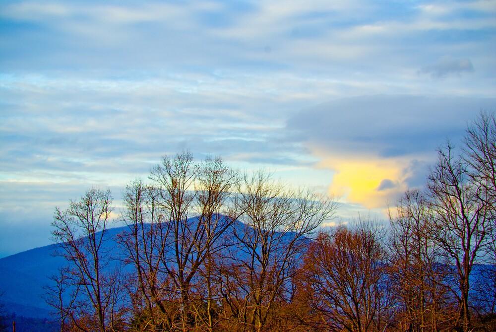 The Blue Ridge Mountains Of Virginia by Rod  Adams